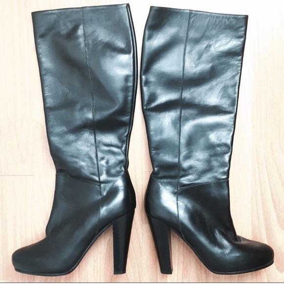 b55b8eea812 SCOOP NYC Black Leather Boots. M 5b9de41e1b16db54879cd8a4